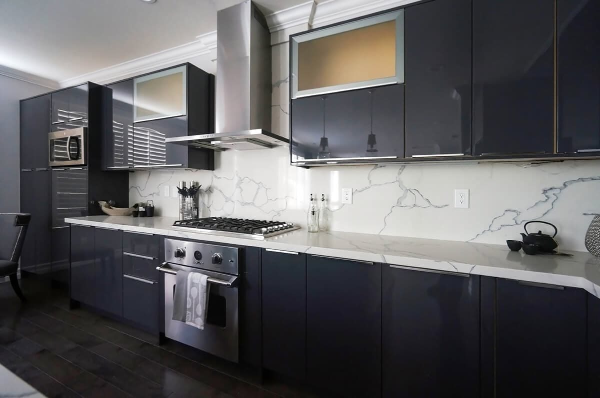 charcoal kitchen cabinets
