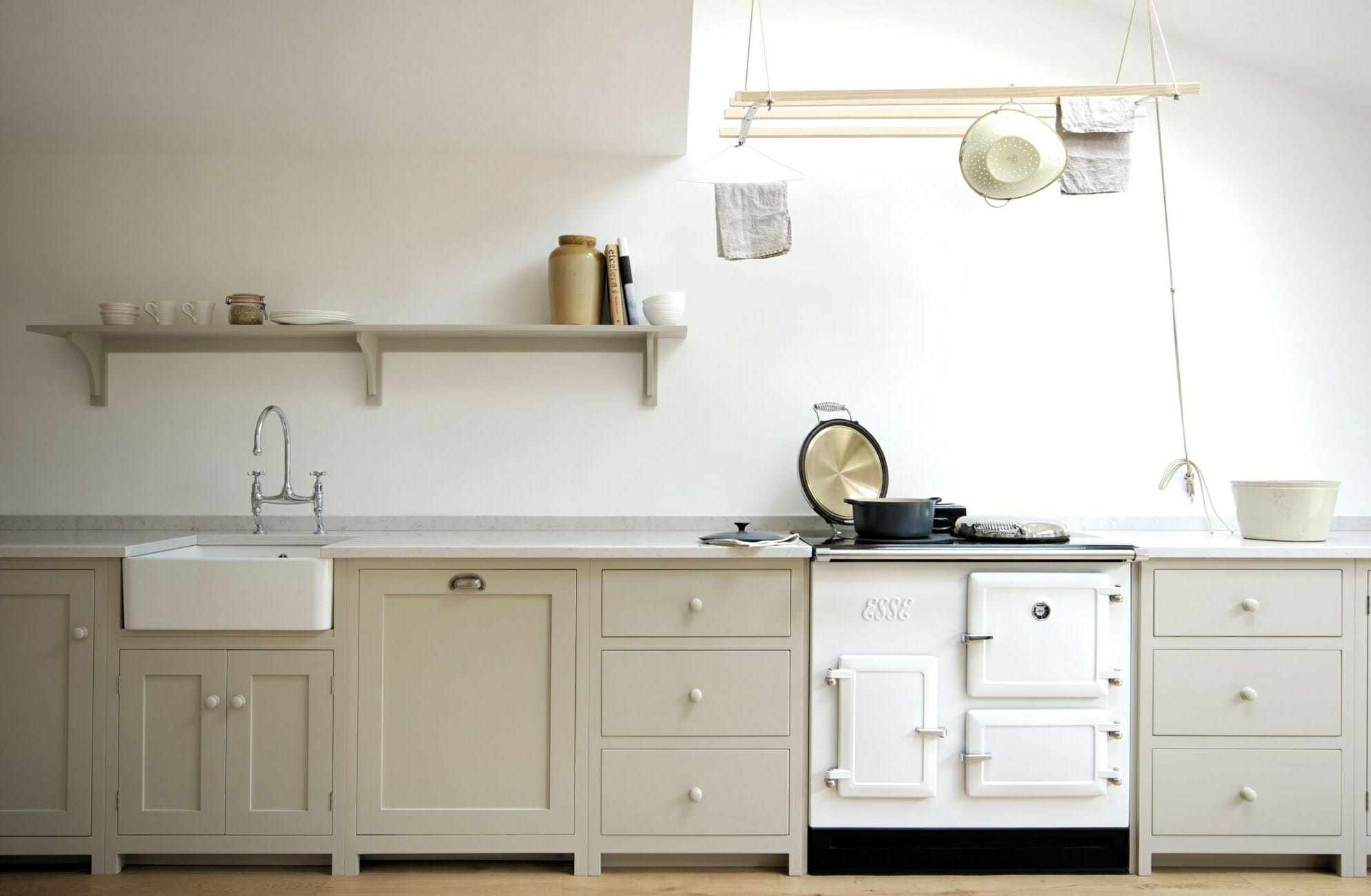 Shaker Kitchen with Farmhouse Sink