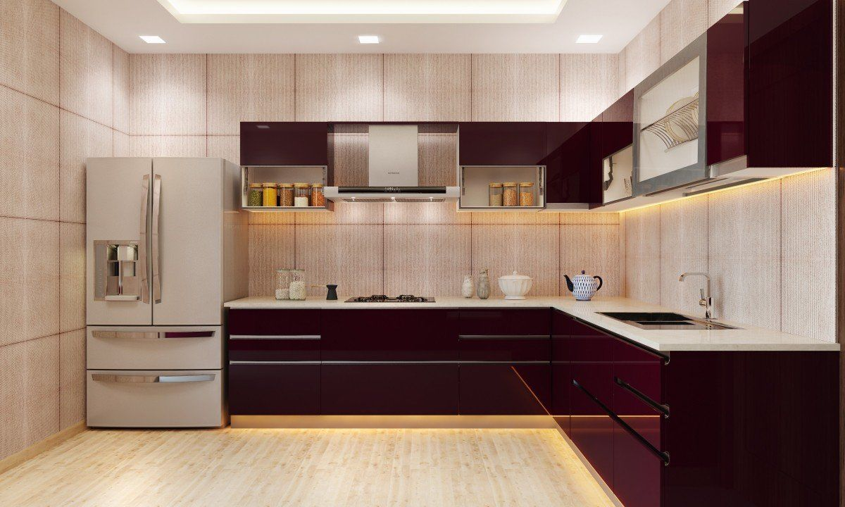 Aclassic-L-shaped-modular-kitchen