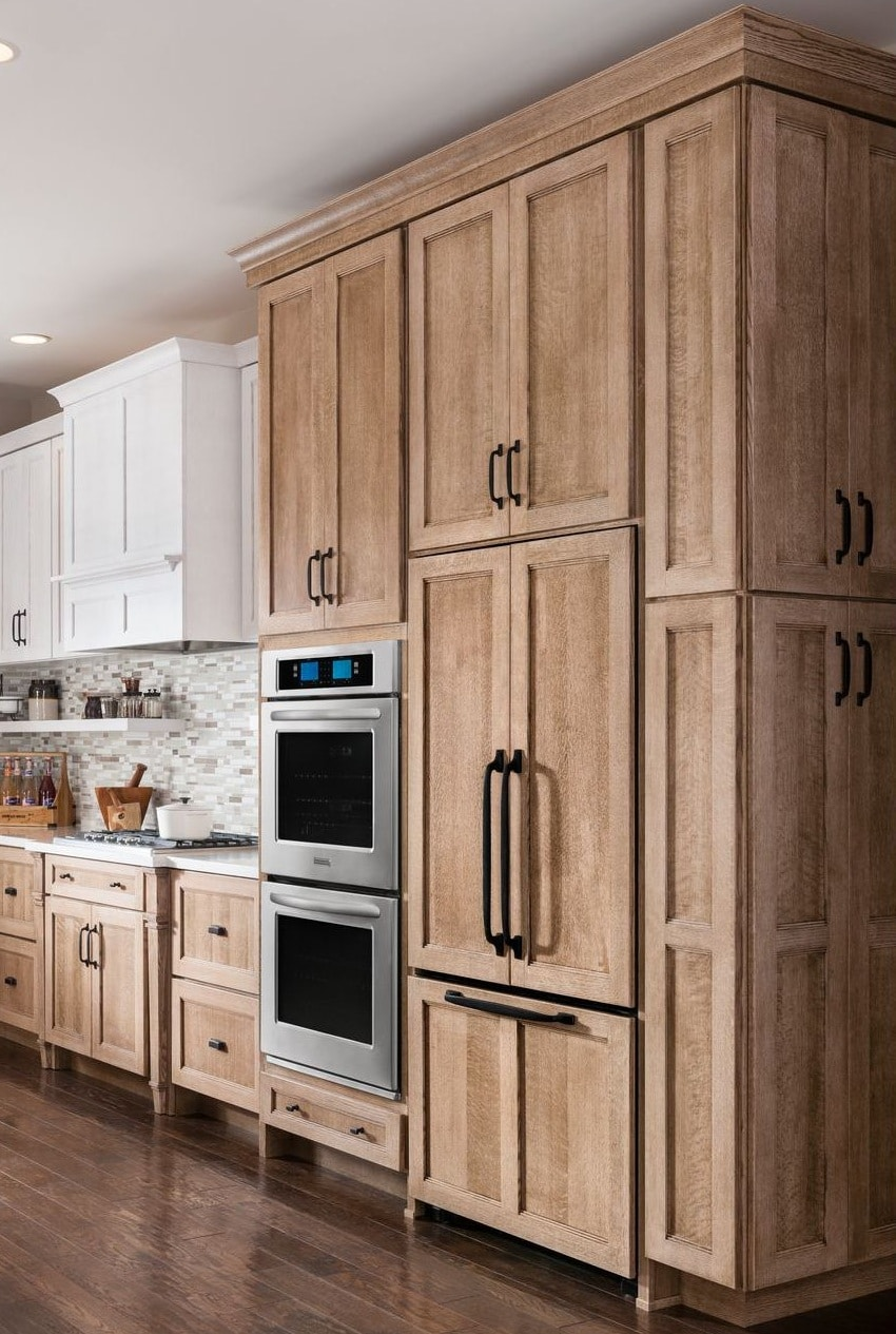 A-nice-set-of-full-depth-upper-cabinets-stained-shaker-cabinets