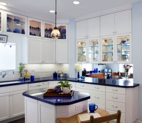 blue-kitchen-countertop-white-cabinets